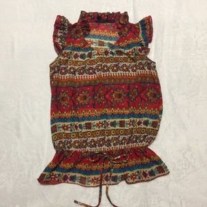 Ali and Kris floral multicolor Top Size Small